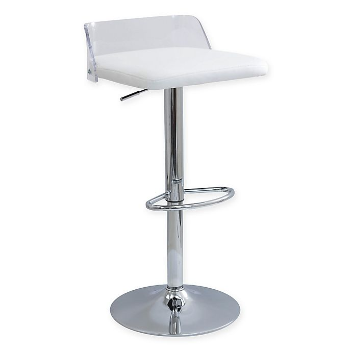 Lumisource Arc Adjustable Height Swivel Bar Stool With