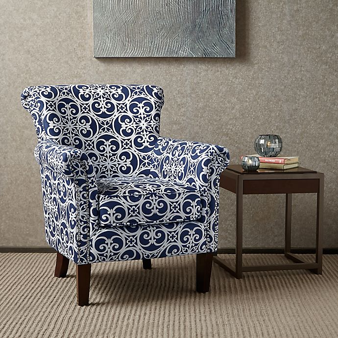 Alternate image 1 for Madison Park Brooke Club Chair in Navy/White