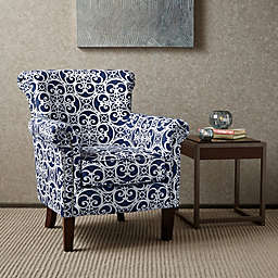 Madison Park Brooke Club Chair in Navy/White