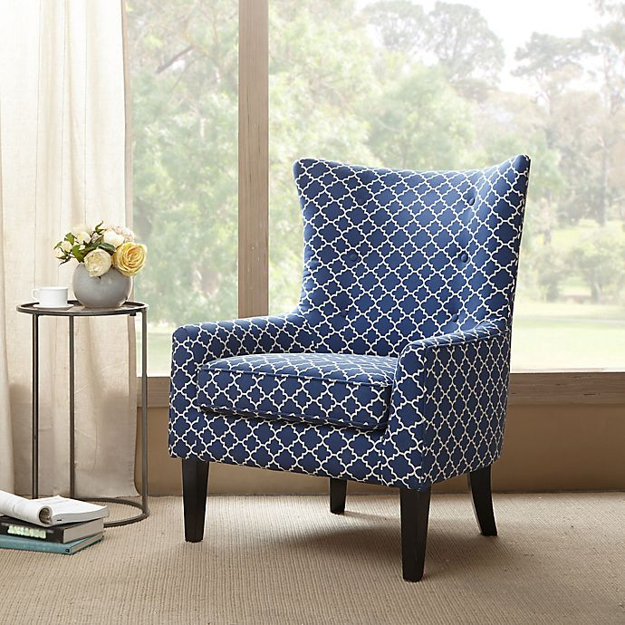 Alternate image 1 for Madison Park Carissa Shelter Wing Chair in Navy