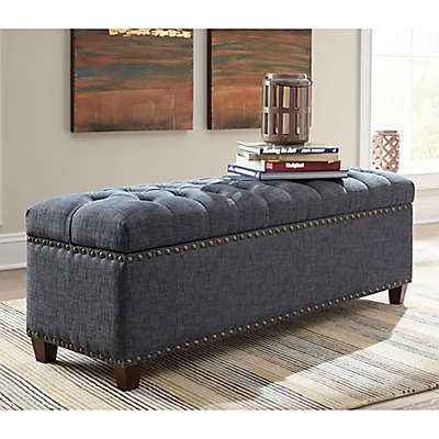 Home Storage Bench in Indigo