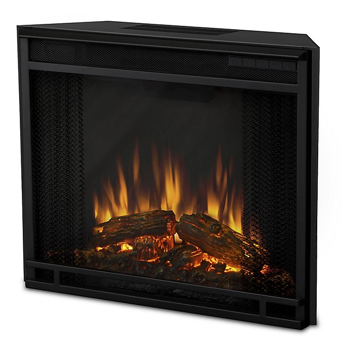 Alternate image 1 for Real Flame® VividFlame Electric Firebox Insert in Black
