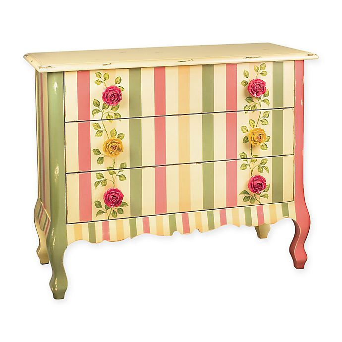 Alternate image 1 for Sterling Wooden Rose Chest in Multicolor