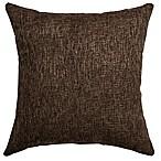 Softline Home Fashions Brookline Square Throw Pillow in Espresso