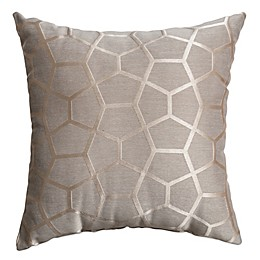 Geometric Print Square Throw Pillow