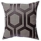 Softline Home Fashions Tribeca Square Throw Pillow in Gunmetal