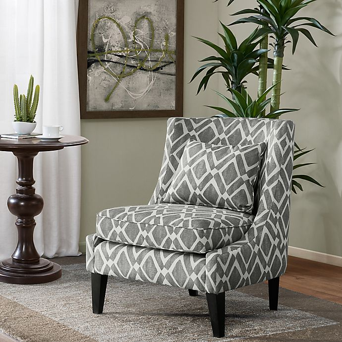 Alternate image 1 for Madison Park™ Waverly Swoop Arm Chair in Grey
