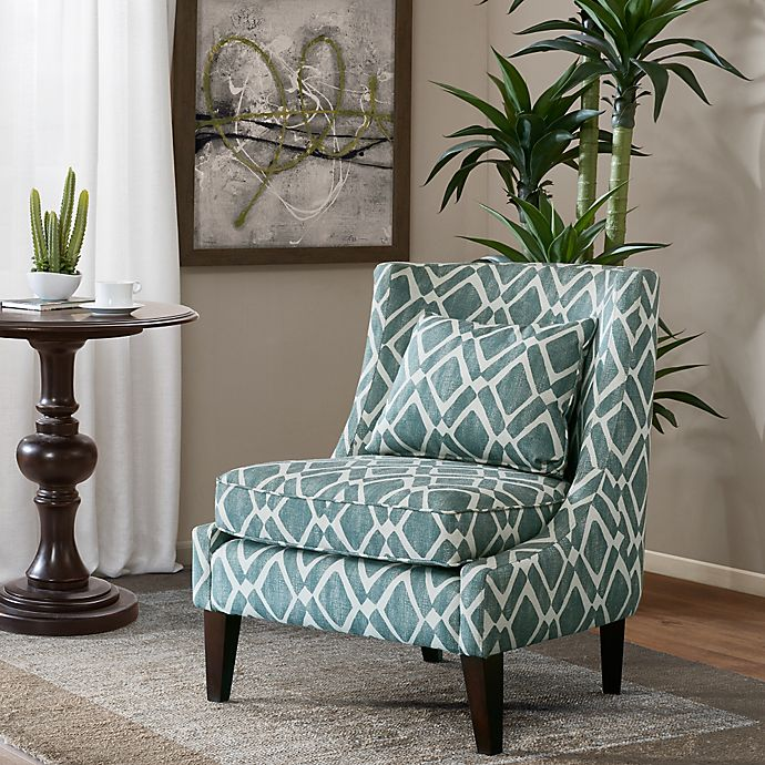 Alternate image 1 for Madison Park™ Waverly Swoop Arm Chair in Blue