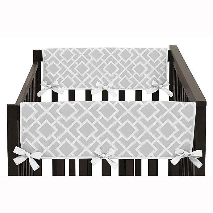 Alternate image 1 for Sweet Jojo Designs Diamond Side Crib Rail Guard Covers in Grey/White