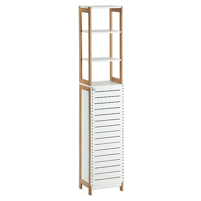 Alternate image 1 for Neu Home Rendition High Cabinet in White/Bamboo