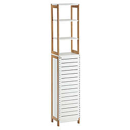 Neu Home Rendition High Cabinet in White/Bamboo