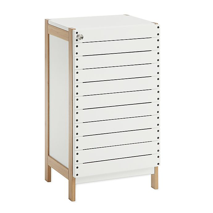 Alternate image 1 for Neu Home Rendition Floor Cabinet in White/Bamboo