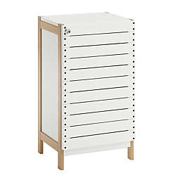 Neu Home Rendition Floor Cabinet in White/Bamboo