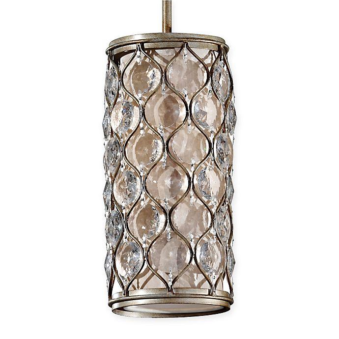 Alternate image 1 for Feiss® 1-Light Mini-Pendant in Burnished Silver