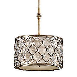 Feiss® 1-Light Pendant in Burnished Silver