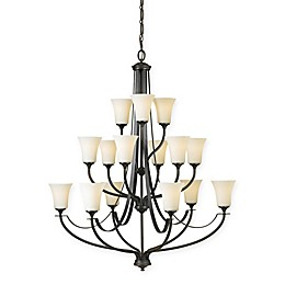 Sea Gull Collection by Generation Lighting 15-Light Multi-Tier Chandelier in Oil Bronze