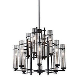 Feiss® 12-Light Chandelier in Antique Iron