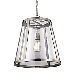 Feiss® 1-Light Pendant in Polished Nickel