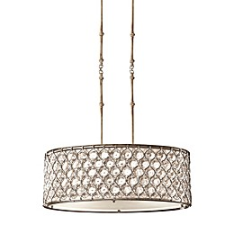 3-Light Pendant Light in Burnished Silver