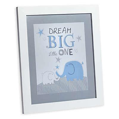 """Zutano® Elefant Blau """"Dream Big Little One"""" Wall Art"""