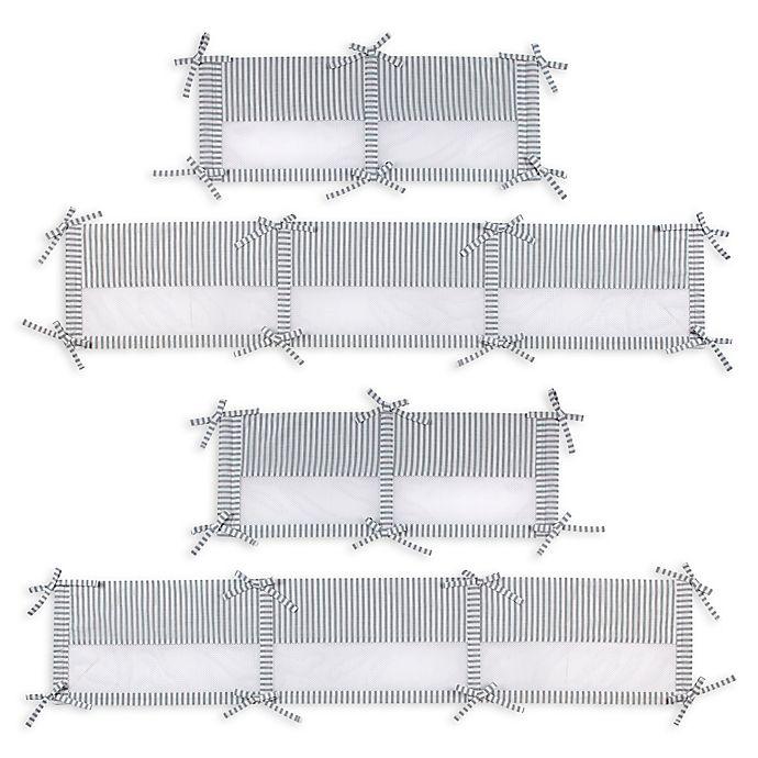 Alternate image 1 for Zutano® Elefant Blau Secure-Me Crib Liner