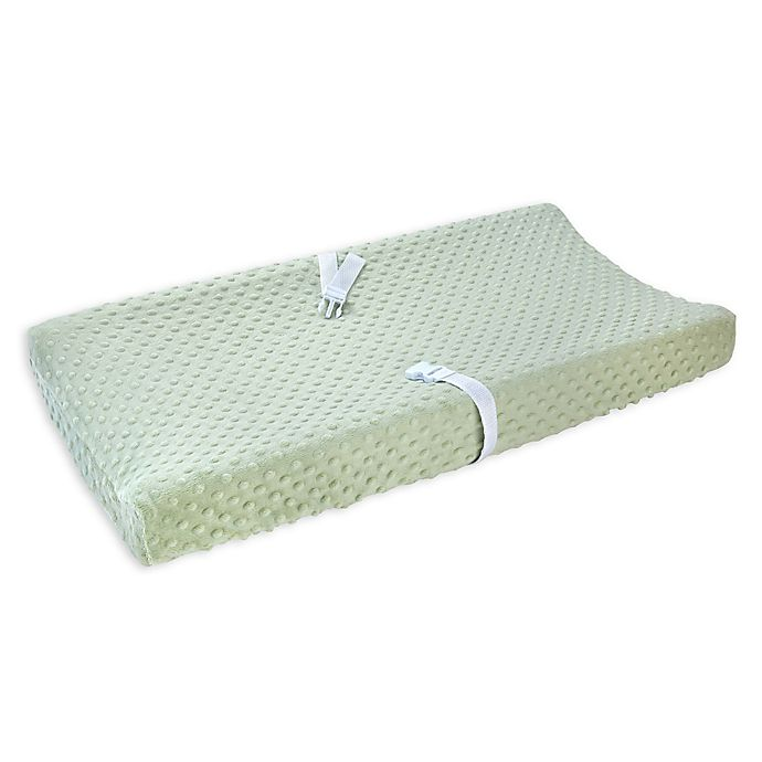Alternate image 1 for carter's® Bubble Dot Velboa Changing Pad Cover in Sage