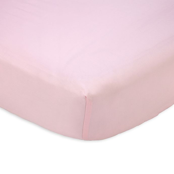 Alternate image 1 for carter's® Sateen Fitted Crib Sheet in Pink Blossom