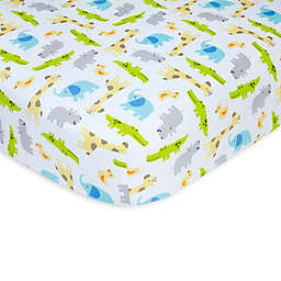 carter's® Safari Sateen Fitted Crib Sheet in Multicolor