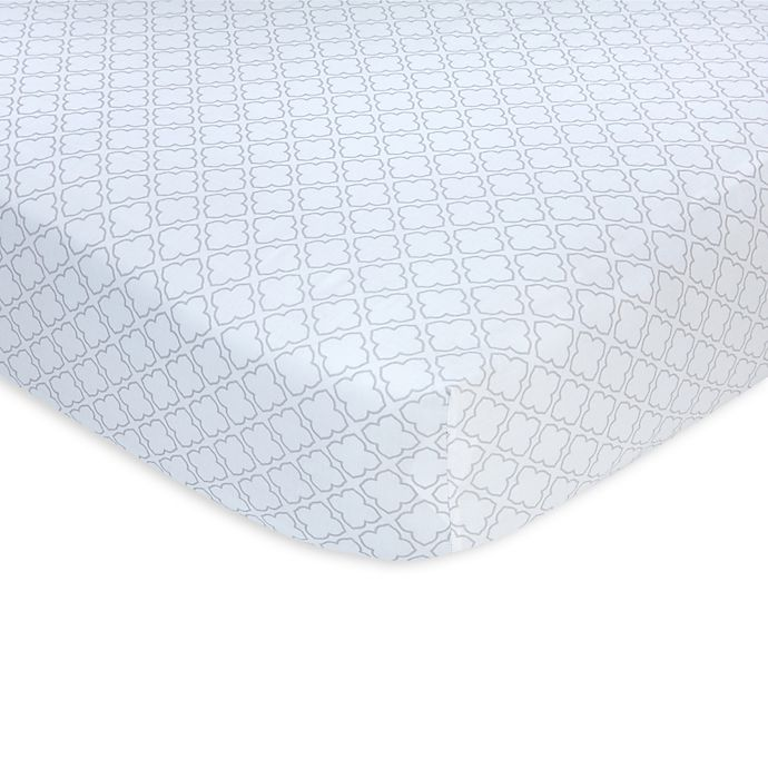 Alternate image 1 for carter's® Trellis Sateen Fitted Crib Sheet