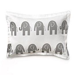Liz and Roo Grey Elephant Decorative Pillow