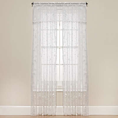 Heritage Lace® Wind Chill Window Curtain Panel and Valance in White
