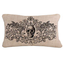 Heritage Lace® Gothic Skull Oblong Throw Pillow