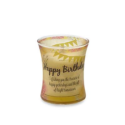 "WoodWick® Inspirational Vanilla Bean ""Happy Birthday"" Jar Candle"