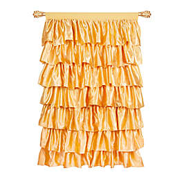 Zutano® Tadpoles 63-Inch Ruffled Satin Window Curtain Panel in Gold