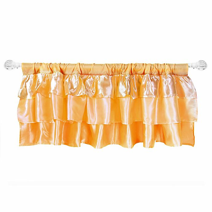 Alternate image 1 for Zutano® Tadpoles Ruffled Satin Straight Valance in Gold