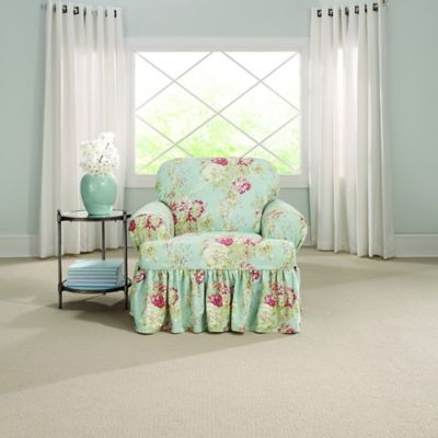 Sure Fit® Ballad Bouquet by Waverly™ T-Cushion Chair ...