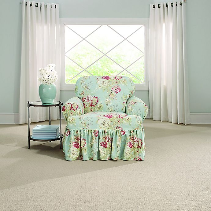 Alternate image 1 for Sure Fit® Ballad Bouquet by Waverly™ T-Cushion Chair Slipcover