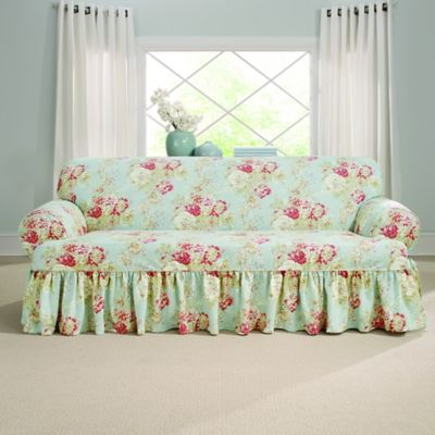 Sure Fit 174 Ballad Bouquet By Waverly T Cushion Sofa