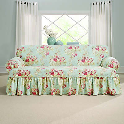 Sure Fit® Ballad Bouquet by Waverly™ T-Cushion Slipcover Collection