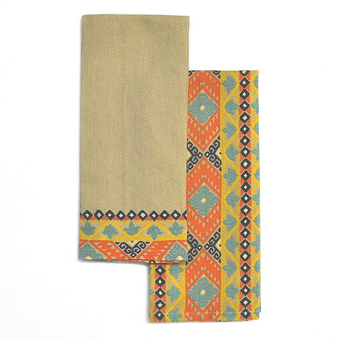 Alternate image 1 for Dresden Southwest-Inspired Kitchen Towels (Set of 2)