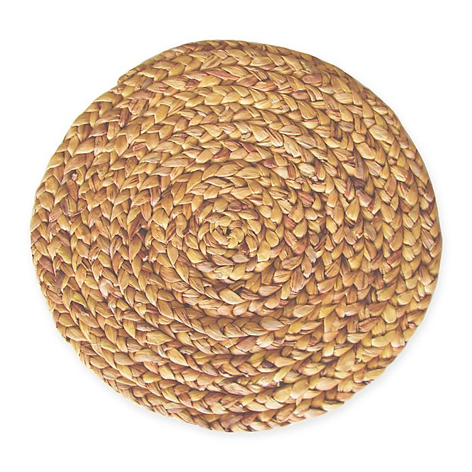 Alternate image 1 for Water Hyacinth Round Placemat