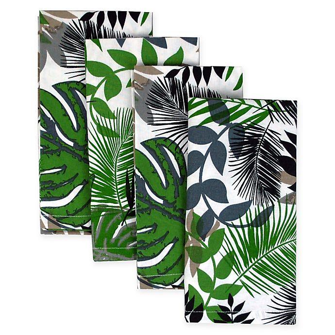 Alternate image 1 for Palm Leaf Napkins (Set of 4)