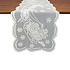 Design Imports Snow Village 72-Inch Table Runner in White