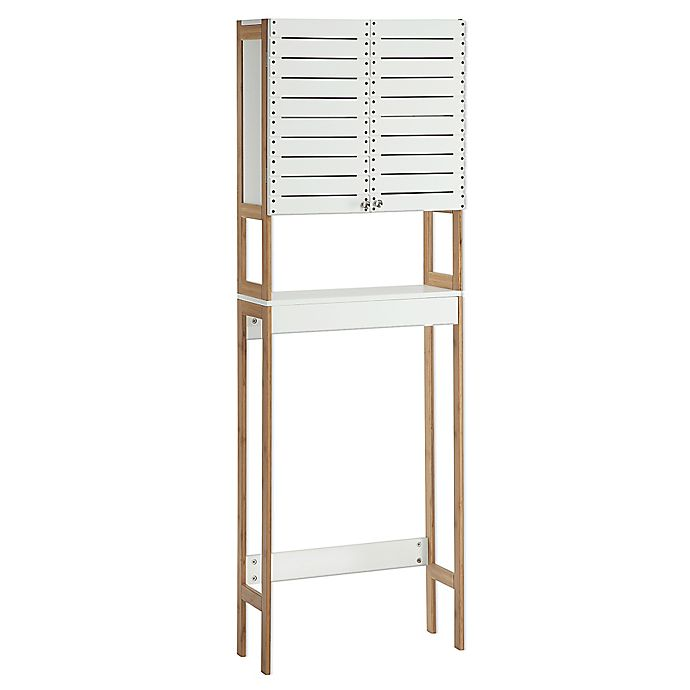 buy neu home rendition space saver cabinet in white bamboo from bed bath beyond. Black Bedroom Furniture Sets. Home Design Ideas