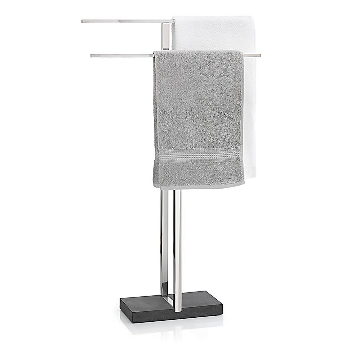 Menoto Freestanding Towel Rack In Polished Stainless Steel Bed Bath Beyond