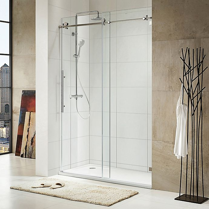 Trident Lux 60 Inch X 76 Inch Frameless Sliding Shower