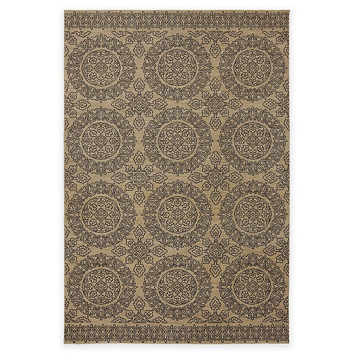 Alternate image 1 for Karastan Pacifica Leawood 5-Foot 3-Inch x 7-Foot 10-Inch Area Rug in Tan