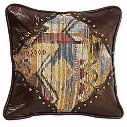 HiEnd Accents Ruidoso Striped 18-Inch Square Throw Pillow in Brown