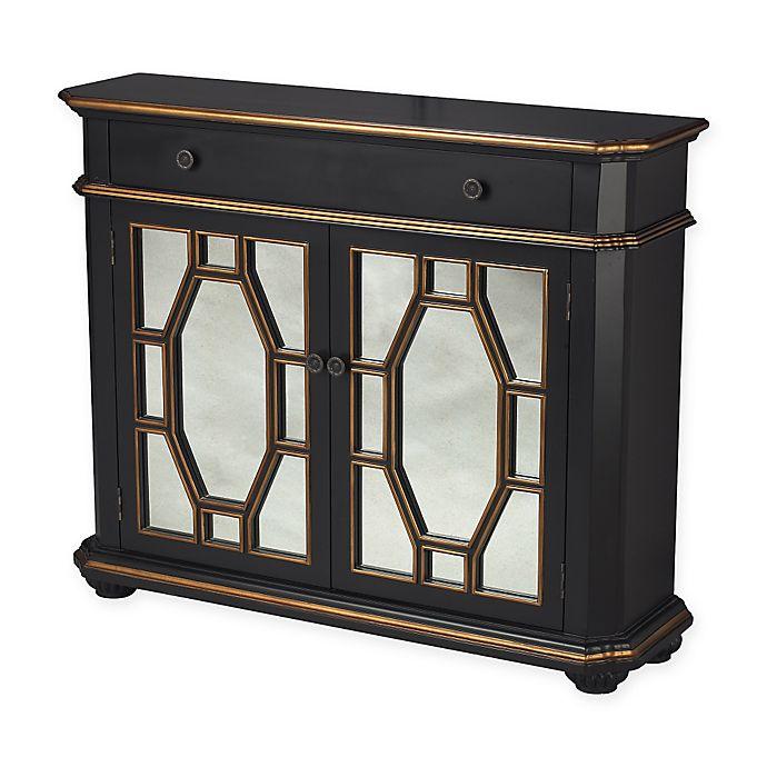 Alternate image 1 for Sterling Industries Presidio Cabinet in Black/Gold