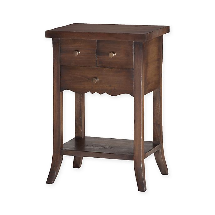 Sterling Industries Wood 3-Drawer East Hampton Side Table